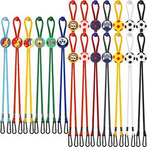 20 Pieces Kids Cartoon Adjustable mouth covering Lanyard Portable Cord Fastener mouth covering Neck Strap mouth covering Buckles Holder Flexible Bib Holder Clip