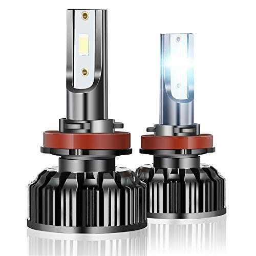 H11 LED Headlight Bulbs Car 90W 6500K 10000 Lumens 300% Brighter Fog Light Bulb Replacement for H11/H9/H8 Cars Trucks Vans(2 Pack )