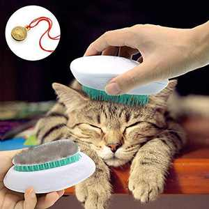 DOMIGLOW Cat Brush Dog Hair Remover - Professional Pet Grooming Shedding Brush Self Cleaning Slicker Brush Pet Massage Comb for Dogs & Cats (Green)