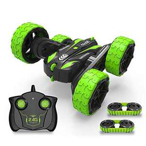 Remote Control Car for Boys and Girls,2.4GHZ Rc Car Toy 360°Rotation & Flips Double Sided Rotating High Speed Off Road Rc Stunt Car with Caterpilar Track and Wheels 2 in 1,Toy Gift for Kids