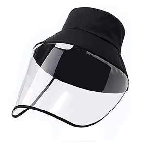 Anti Solation Sun Visor Hat Sunhat Bucket Packable Hats Anti-Fog Dustproof for Women Black