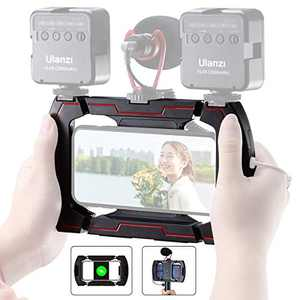 Smartphone Video Rig ULANZI Phone Video Stabilizer Mount Stand Holder Filmmaking Vlogging Rig w Cold Shoe for iPhone 11 11 Pro Max X Xs Samsung Android Video Recording