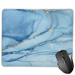 Mouse Pad with Stitched Edges, Non-Slip Rubber Base Mouse Mat Pad for Laptop, Computer or PC
