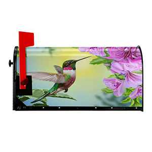 Luora Welcome Mailbox Covers Magnetic Hummingbird Patriotic Post Box Cover Wrapped Oversize 21 x 18 Inch for Garden Yard Decor