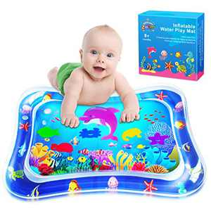 ZMLM Baby Tummy-Time Water Mat: Infant Toy Gift Activity Play Mat Inflatable Sensory Playmat Babies Belly Time Pat Indoor Small Pad for 3 6 9 Month Newborn Boy Girl Toddler Fun Game