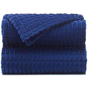 """Throw Blankets – 50""""x60"""", Blue Depths - Lightweight Flannel Fleece - Soft, Cozy - Perfect for Bed, Sofa, Couch"""