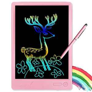 KURATU Girl Toys for 3-12 Year Old Girls Gifts,Colorful LCD Writing Tablet 10 Inch Doodle Board, Electronic Drawing Tablet , Educational Birthday Gift for 3 4 5 6 7 8 9 Years Old Girls (Pink-Pro)