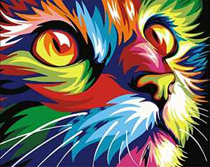 DIY 5D Diamond Painting Kits for Adults Kids, Full Drill Gem Art Painting Kits for Adults Embroidery Arts Craft Home Decor- Cat Pattern, 12 x 16 inch
