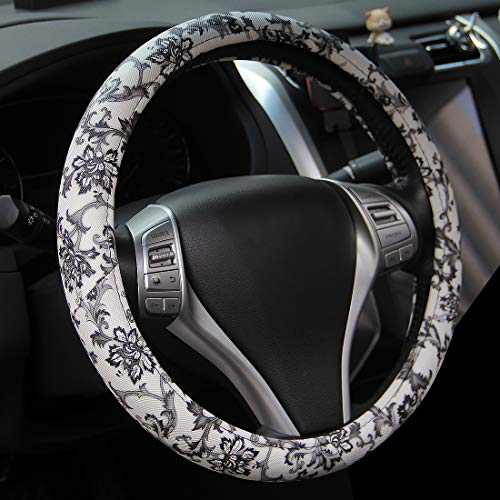 AOTOMIO Chinoiserie Steering Wheel Cover for Women and Girl Universal Printing Car Steering Wheel Protector Fit 15 Inch,Anti-Slip,Chinese Style Automotive Interior Accessories