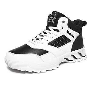 MEI NIAN GUAN Men's Basketball Workout Shoes for Running Black White Size 11 Fitness Walking Jogging Teens Boys Cool Jogger Lightweight Footwear Man Gym Athletic Tennis Sneakers