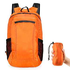 Grneric Hiking Backpack,Packable Foldable Waterproof Lightweight 20L Daypack for Camping Traveling Skating Outdoor,Orange