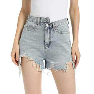 EYESHOCK Ripped Jean Shorts for Women High Waisted Distressed Denim Shorts