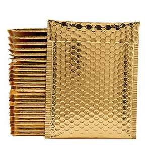 """Bubble Mailers,7x11 inch(Inside Size: 6x9""""),Self-Seal Shipping Bags,Metallic Padded Envelopes, Waterproof Bubble Envelopes for Shipping/Packaging, 26pcs (Gold)"""