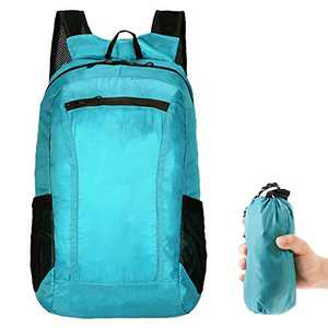 Grneric Hiking Backpack,Packable Foldable Waterproof Lightweight 20L Daypack for Camping Traveling Skating Outdoor,Blue
