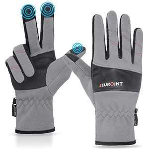 SEUROINT Winter Gloves Thermal-Touchscreen-Windproof-Gloves, Warm Outdoor Work-Gloves for Men Women