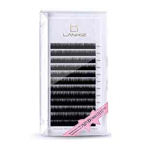 LANKIZ Ellipse Eyelash Extensions 0.15mm D Curl 15mm Flat Eyelash Extension Light Lashes Mink Individual Eyelashes Extension Mink False Lashes Supplies for Salon