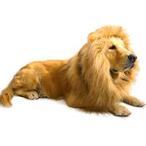 Dog Lion Mane Costume,Lion Mane Wig Costumes for Medium to Large Sized Dog with Ears & Tail Halloween Lion Costumes
