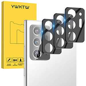 3 Pack YWXTW for Samsung Galaxy Note 20 Ultra Camera Lens Protector, Upgraded Ultra-Thin Anti-Scratch Drop Protection Bubble Free BackCamera Lens Tempered Glass Film for Galaxy Note 20 Ultra (Black)