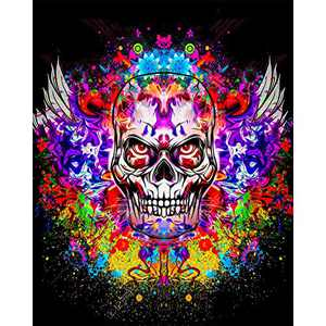 DIY 5D Diamond Painting Set, Crystal Rhinestone Diamond Embroidery Paintings Pictures Old School Gothic Style Retro Arts Craft for Home Wall Decor, Adults and Kids (005)