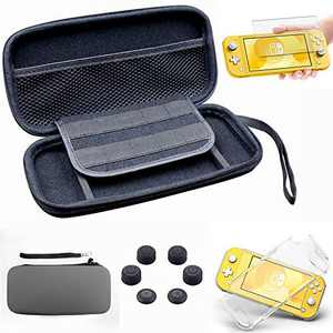 Switch Lite Case with Screen Protector, Switch Lite Carrying Case for Girl Boy, EVA Travel Case for Nintendo Switch Lite. (Switch Lite Case Grey)
