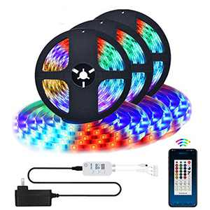 LED Strip Lights, Bluetooth App Controlled Color Changing RGB LED Light Strip with Remote for Room, Bedroom, Party Christmas Decoration