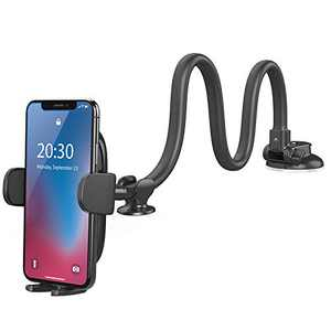 Windshield Car Phone Mount - OQTIQ Upgraded 13-Inches Long Arm Gooseneck Cell Phone Holder for Car Truck Dashboard Phone Holder with Strong Suction Cup, Compatible with iPhone Samsung Galaxy LG