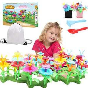 Tuptoel Girls Toys Age 3 4 5 6 7+, Flower Garden Building Toy Girls Preschool DIY Crafts for Girls