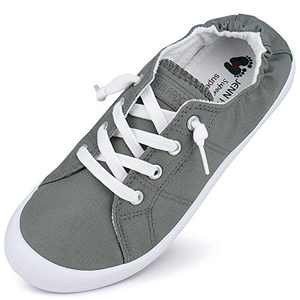 Canvas Sneakers for Women Low Tops Slip On Sneakers Casual Shoes Comfortable