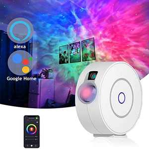 Galaxy Projector with Nebula,APP Voice Control,Alexa & Google Home Compatible Star Sky Night Light for Game Rooms,Home Theatre Baby Room