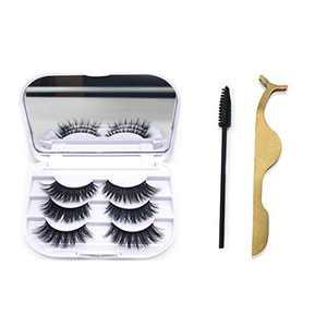 KallyHair 100% Real Mink Lashes | 3 Pairs 20mm Mink Eyelashes | Fluffy Eyelashes | Hand-Made Reusable Eye Lashes with Mirror Case