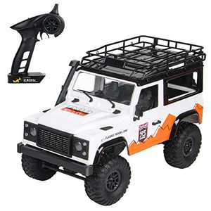 The perseids RC Car Remote Control Truck RC Rock Crawler 1:12 2.4G 4WD Off-Road High-Speed Vehicle Minitary Truck Electric Hobby Grade RTR Toy for Kids Over 14 and Adults (MN-99(White))