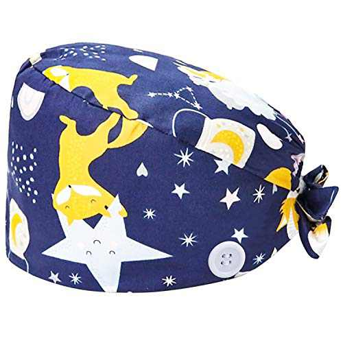 Working Hat Women's and Men's Cap Adjustable Tie Back Hats Head Cover with Sweatband Multiple Color Fox(1 PCS