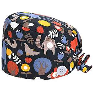 Working Hat Women's and Men's Cap Adjustable Tie Back Hats Head Cover with Sweatband Multiple Color Animals(1 PCS