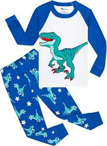 Boys Christmas Dinosaurs Pajamas Toddler Kids T-rex Sleepwear Baby Girls School Pjs Size 8