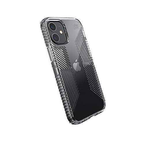 Speck Products Presidio Perfect-Clear Grip iPhone 12 Mini Case, Clear/Clear