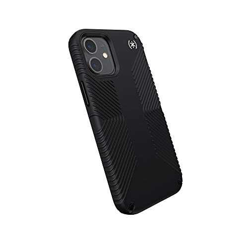 Speck Products Presidio2 Grip iPhone 12 Mini Case, Black/Black/White