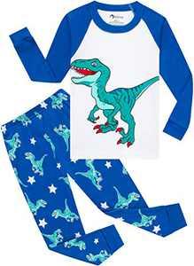 Boys Christmas Dinosaurs Pajamas Toddler Kids T-rex Sleepwear Baby Girls School Pjs Size 7