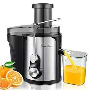 Juicer Machines Vegetable and Fruit, Small Compact 600W Centrifugal juicer, Quick Extract High Yield Pure Juice, 3'' Wide Mouth, Easy Use & Clean, Stainless Steel, Quiet, Anti-drip, Overheat Protect