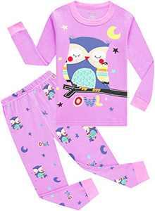 Little Girls Owl Pajamas Christmas Children Pyjamas Toddler Kids Gift Set Size 6