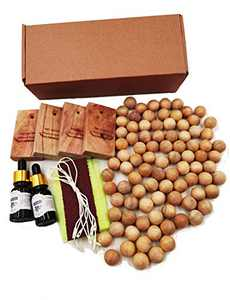 GREENLE Cedar Blocks Cedar Balls Substitute-Chinese Camphorwood Use for Closets and Drawer Fragrant Drawer Liners 100 Pack