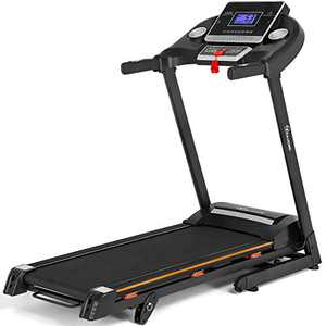 YITAHOME Folding Treadmill 2.75HP 9.2 MPH Max Speed 45.3 inch Length with 3-Level Manual Incline Adjustment Running Jogging Walking Machine with LCD Display & Heart Rate for Home Office Gym