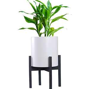 HOKEMP Black Metal Planter Stand Mid Century Modern Flower Potted Plant Holder Plants (Plant Pot Not Included) Fits Up to 10 Inch Planter
