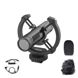 MIRFAK N2 On-Camera Microphone for DSLR, Mobile Phone, Camcorders, Recorders, PC,Directional Condenser Microphone, Cardioid Pattern【Free One-Year Warranty】