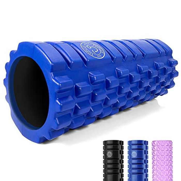 TOPLUS Fitness Foam Rollers For Deep Tissue Massage, Trigger Point Foam Roller For Muscle Massage And Deep Relaxation Therapy,Relieve Muscle Tension And Stress, 33x14cm