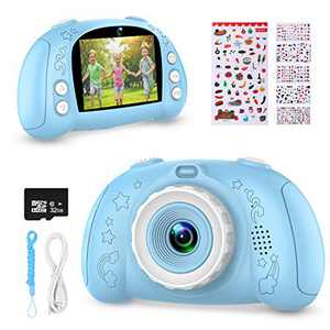WOWGO Digital Camera for Kids, 1080P Rechargeable Electronic Children Camera Birthday Toy Gift with 32GB TF Card for Toddler and Age 3 to 12 Years Boys and Girls (Blue)