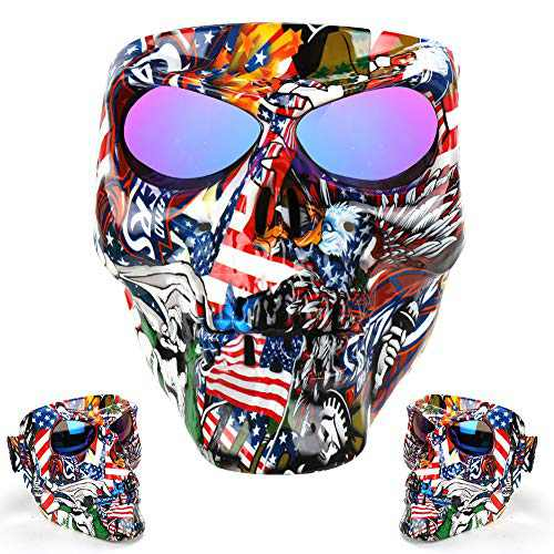Outamateur Skull Motorcycle Goggle Mask Safety Goggle UV Proof Motorbike Mask