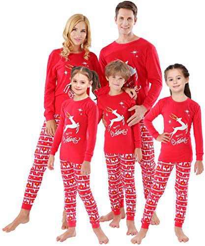 Matching Family Deer Christmas Pajamas Sets Women Men X-mas Pjs Merry Christmas Elk Holiday Clothes Sleepwear 12 to 18 Months