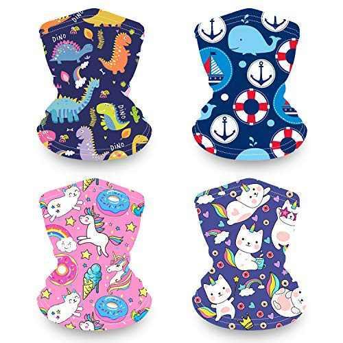 Kids Neck Gaiter Face Maks for Kids, Reusable Bandana Face Madk for Girls Boys, Washable Face Covering, Children Scarf Madks Neck Gator, Toddler Balaclava for Fishing (Cat face mask)