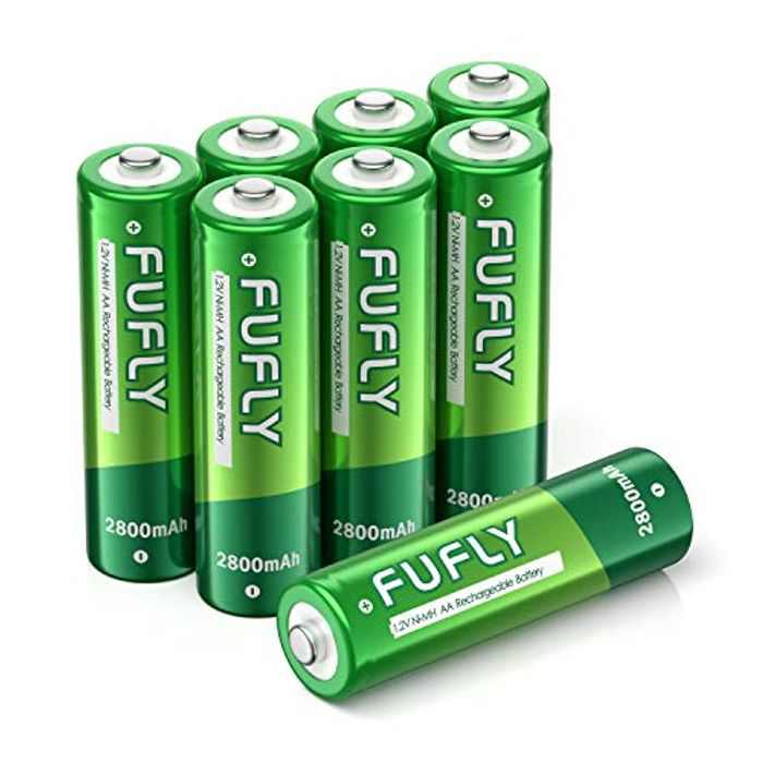 Fufly Rechargeable Batteries AA 2800mAh - 1.2V Ni-MH High Capacity Low Self Discharge Precharged Double A Batteries With Storage Box (8 Pack)