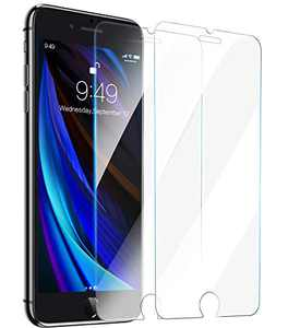 YOUMIXX iPhone SE Screen Protector, iPhone 8 7 Screen Protector 【Military Grade Shatterproof】Tempered Glass Screen Protector for iPhone SE iPhone 8 7 4.7''-2 Pack